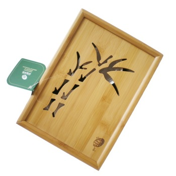 Free Shipping Mao Bamboo tea tray Kung Fu with tureen,Gong Dao Bei and tea cups and stainless tong and strainer Travel tea set