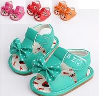 Free shipping 2014 hot sale baby summer sandals antiskid infant shoes for girls kids prewalker toddler girls shoes spot shoes