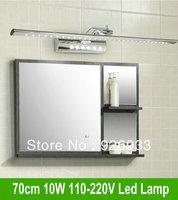 Free shipping 70cm 10W LED Mirror Wall Toilet Light Bathroom Lamp Cabinet AC 85V~265v Stainless Steel bj31