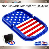 2014 Rushed Seconds Kill Blue Lada Priora Non-slip Mat National Flag Resistant Slip Mat Mobile Phone Navigation Rubber Mat