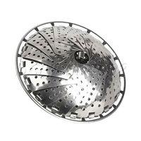 Stainless Folding Food Fruit Vegetable Dish Steam Steamer Basket Plate Cooker