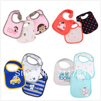 Retail Free Shipping carter's original baby bibs, 3-layer infant teething bib 3pcs set. ,