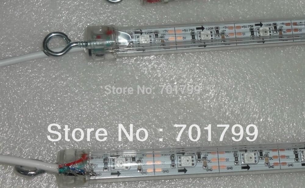 1m long WS2812 digital meteor light;snowfall light,DC5V input,64pcs WS2812 LED,double side,32pixel per meter(China (Mainland))