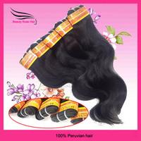 Peruvian HumanHair Extension,Body Wave, machine Hair Weft, Mix Length 12-28inch, 6pcs/lot, DHL Free Shipping