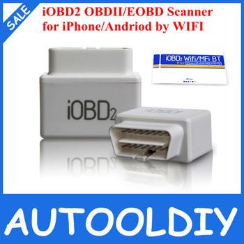 2014 Hot Sale OBD2/EOBD ferramenta de diagnóstico iOBD2 para iPhone e Andriod por WIFI suporte multi-língua com melhor preço Frete Grátis