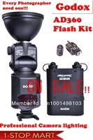 Fedex Free shipping Godox AD360 Kit PB960,photography lighting, flashlight, video light, photography equipment, free trigger!