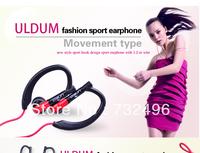 ULDUM 2014 good voive moisture-wicking ear-hook walkman earphone with micro for smartphone mp3/4