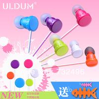 ULDUM 2014 free shipping colorful bottle-cap in-ear earphone