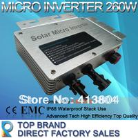 Free Shipping by Fedex  2014 New Hot Product - 260 Watt Grid Tie Solar Micro Inverter