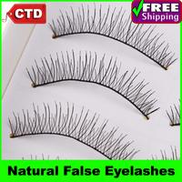 New 10 Pair 216# Black Color False Upper Eyelashes Eyelash Eye Lashes Handmade Natural False Eyelashes
