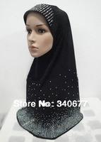 Fashion rhinestone design solid color multicolor convenience muslim hijab,islamic scafs,hijab scarf,free shipping
