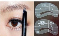 4pcs Painted Eyebrow Pencil Model Styles Eye Brushes Shadow Template Stencil Makeup Tools DIY Shaping Free Shipping