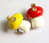 Crystal Mushroom USB 2.0 Thumb Drive 1GB 2GB 4GB 8GB 16GB Memory Flash Stick Red/ Yellow Colors choices