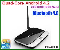Android 4.2 Quad Core RK3188 CS918 MK888 Miracast 2G 8G WIFI Bluetooth HDMI Internet Smart TV Box Mini PC Dongle media Player
