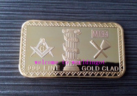 (lucya0042) Newest Coming! Free Shipping 1 OZ Masonic Gold Bullion Bars 5Pcs Good Quality Metal Coin