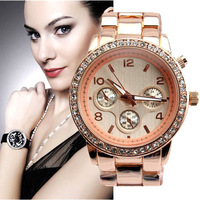 Hot sell 4 color 4 style famous brand wristwatch ,Man Diamond Crystal M luxury steel quartz watch K,Free shipping