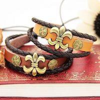Min,order is $15(mix order),2013 new retro punk bronze rivet women's cow leather bracelets,fashion men bangle,Free shipping