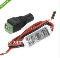 Free shipping 10pcs/lot 12V Mini 3528 5050 LED Strip Controller Dimmer + DC connector B378