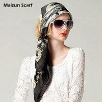 Free shipping    85x85cm square silk scarf brand