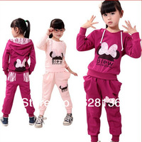 New 2013 autumn -summer Tracksuits Children sport suits Butterfly Lace fish scale Girl's Hoodies children outerwear