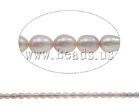Free shipping!!!Rice Cultured Freshwater Pearl Beads,Designer, natural, grey, A, 5-6mm, Hole:Approx 0.8mm, Length:14.5 Inch