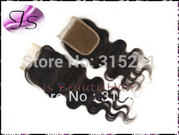 Queen hair Peruvian virgin body wave Free part Milddle part 3 ways part lace top closure swiss lace bleached knots free shipping