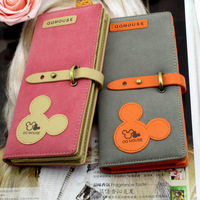2014 new fashion lady women cool qq mouse purse Hit color clutch card holder wallet high quality bag handbags gift free shipping