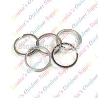 5pcs Tiremet Titanium Ti Pure Color Flashlight Keychain Buckle EDC Daily Keyring Split Key Ring Size S