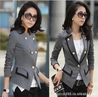 2013 New fashion casual coats women outwear long sleeve ladies coat Small suit Autumn clothing Blazer Jacket with Free shipping