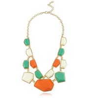 High quality 18K gold plated short women necklace Candy color irregular jewelry free shipping HeHuanXLY092