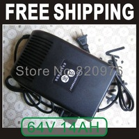 smart pulse type electric motorcycle power adapter 64V 14AH battery car charger DC Jack is Square head+Free Shipping
