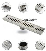 50cm x10cm Large-traffic stainless steel bathroom shower long floor waste sanitary wares floor linear drain xx33