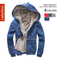 New 2013 Fashion Autumn and winter Plus velvet Hoodies men's sport sweatshirts coats Zipper Man sport clothing  Free shipping