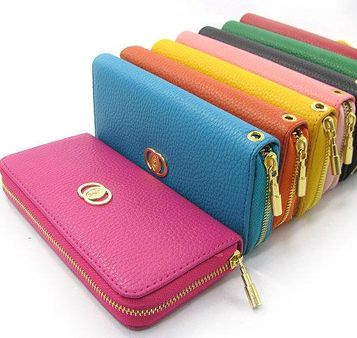 caldo pu pelle donne disegno lungo portafoglio chiusura lampo caramella di colore borsa di moda portafoglio frizione cartera carteira portefeuille portafoglio