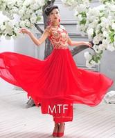 Free Shipping Q1376 Cheongsam 2013 New Fishtail Bridal Fashion Retro Long Paragraph Wedding Dress