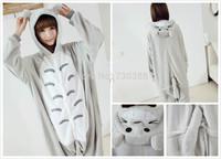 New Japan Animal Anime Totoro Cosplay Pajamas One Piece Adult Onesie for Women Men Warm Christmas Halloween Party Pajama S-XL