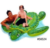 Intex-56524 turtle rider water toys inflatable floating rider 191*170cm, include repair patch