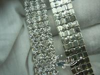 free shipment 4  Row 4mm 888 Rhinestone chain Cake Ribbon Trim Wedding Decoration  x   1 yard