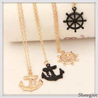 Min.order $10+gift mix order  Fashion personality Bow and arrow target gold pendant sweater  Necklace For Women Free shipping