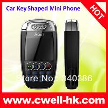 Hot sales! mini phone A7 quad band mini car phone, Mini size Car key shaped Mobile Phone small size cheap china mobile phone(China (Mainland))