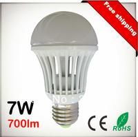 Free Shipping 7W 700lm E27 E26 B22 AC110V 220V 100Lm/W COB LED Chip White LED Bulb Spot Light Lamp 10pcs Lot