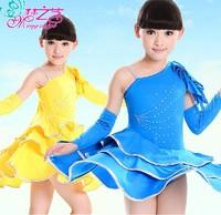 HO-02 New 2014 Latin dance dress for girls Latin kidsdress Latin dress Baby girls dress Latin ballroom dresses