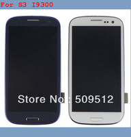 100% Original 5pcs/lot for Samsung Galaxy S3 SIII i9300 LCD  with Touch Screen Digitizer+Frame Assembly FR SH  by DHL EMS