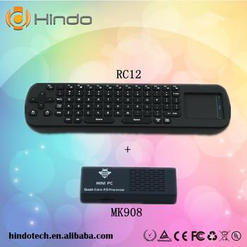 MK908 android 4.2.2 tv box quad core mini pc With Bluetooth RK3188 1.8GHz RAM 2GB ROM 8GB+RC12 wireless keyboard Free Shipping
