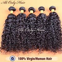 "Queen Weave Beauty 100% Human Hair Indian Water Wave Hair Extension 10 Pcs Lot 8'-30""Color 1b #1 #2 #4 Tangle Free No Shedding"