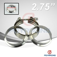 "2.75"" V Band clamp flange Kit (Stainless Steel 304 Clamp+SUS304 Flange) For turbo exhaust downpipe"