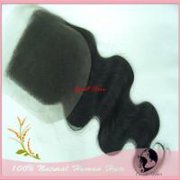 "great  closure brazilian hair body wave Brazilian Hair Lace Top Closure(3.5""*4"") body wave,8""-18"" natural Color cheap closure"