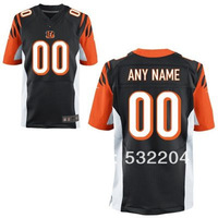 Free Shipping  Wholesale Men's Cincinnati Customized Elite jersey Team Color Jersey American Football Jersey Mixed Order 40-60
