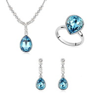 Crystal Wedding Make with Swarovski Elements Jewelry Set (N8150) Women Pendants Accessories Fashion Wholesale  Free Shipping