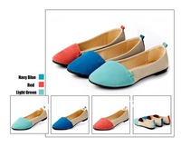 New Korean Fashion Terse Flat Shoes Nubuck Suede Lady Thin Shoes Women's Stylish Casual Flat Shoes